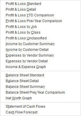 Figure 3: We hope you'll let us help you by running and interpreting these standard financial reports.