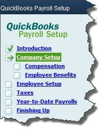 Figure 1: The QuickBooks Payroll Setup tool tells you what information you'll need to supply in order to start paying employees.