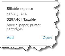 image of invoice form with billable customer information in QuickBooks Online Huntsville AL QuickBooks